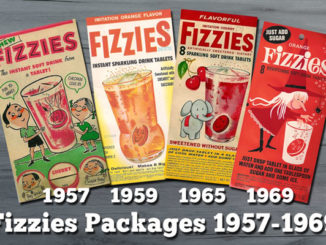 Photo of Fizzies packaging from 1957-1969