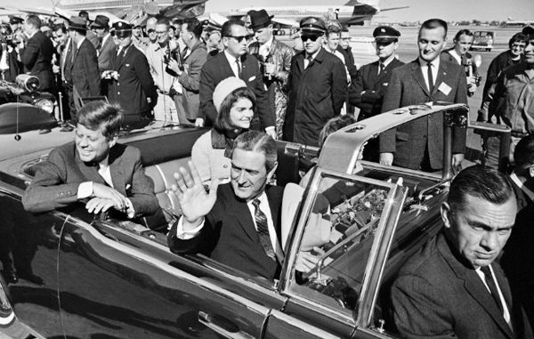 President Kennedy moments before assassination in Dallas Texas November 22, 1963