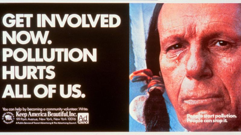 Keep America Beautiful with Iron Eyes Cody, The Crying Indian 1971