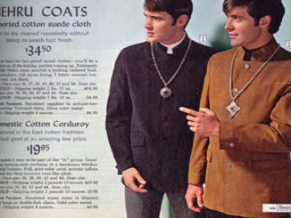 Photo of Nehru coats from Sears catalog, 1968