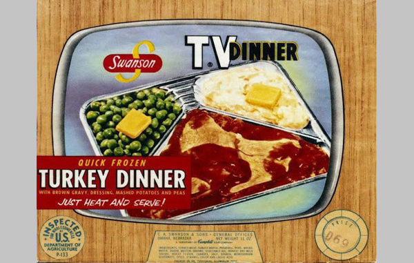 Photo of Swanson TV Dinner Package 1950s 1960s