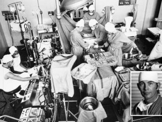 Dr. Christiaan Barnard performs the first human heart transplant, Dec 3, 1967 in Cape Town, South Africa